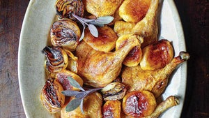 Roasted Duck with Apples and Onions