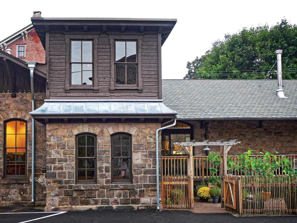 Melissa Hamilton and Christopher Hirsheimer situated their new restaurant in an old, 1874 train station.