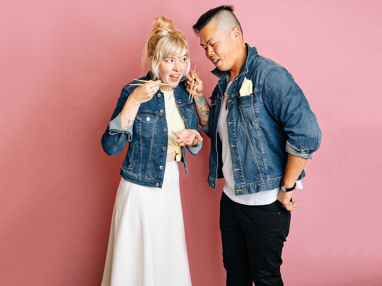 Chef Shuai Wang and his wife Corrie Wang
