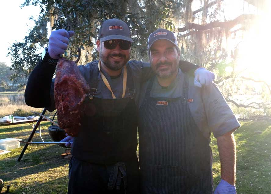 Chefs Hernan Stutzer and Alberto Llano have been friends since they met at Le Cordon Bleu in Miami. Today, they offer Patagonian-style cooking at two locations of Del Sur Artisan Eats—one in Miami, and one in St. Simons, Georgia.