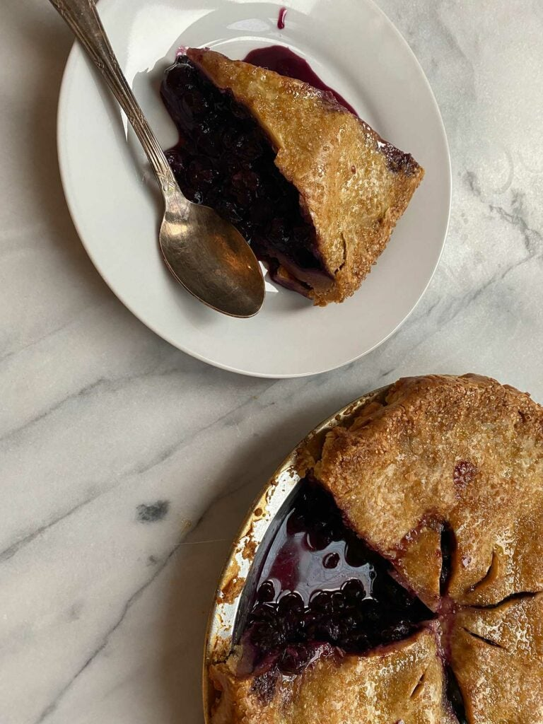 Nell Huffman's Blueberry Pie