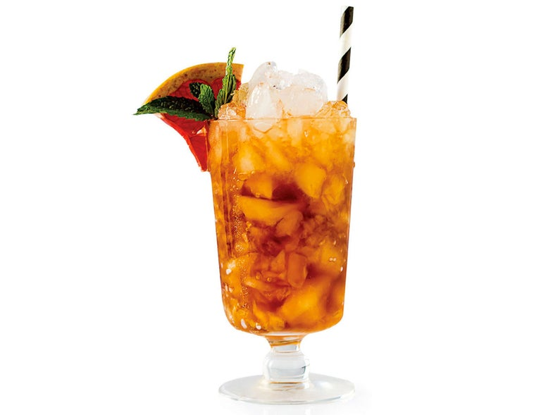 Cynar julep cocktail