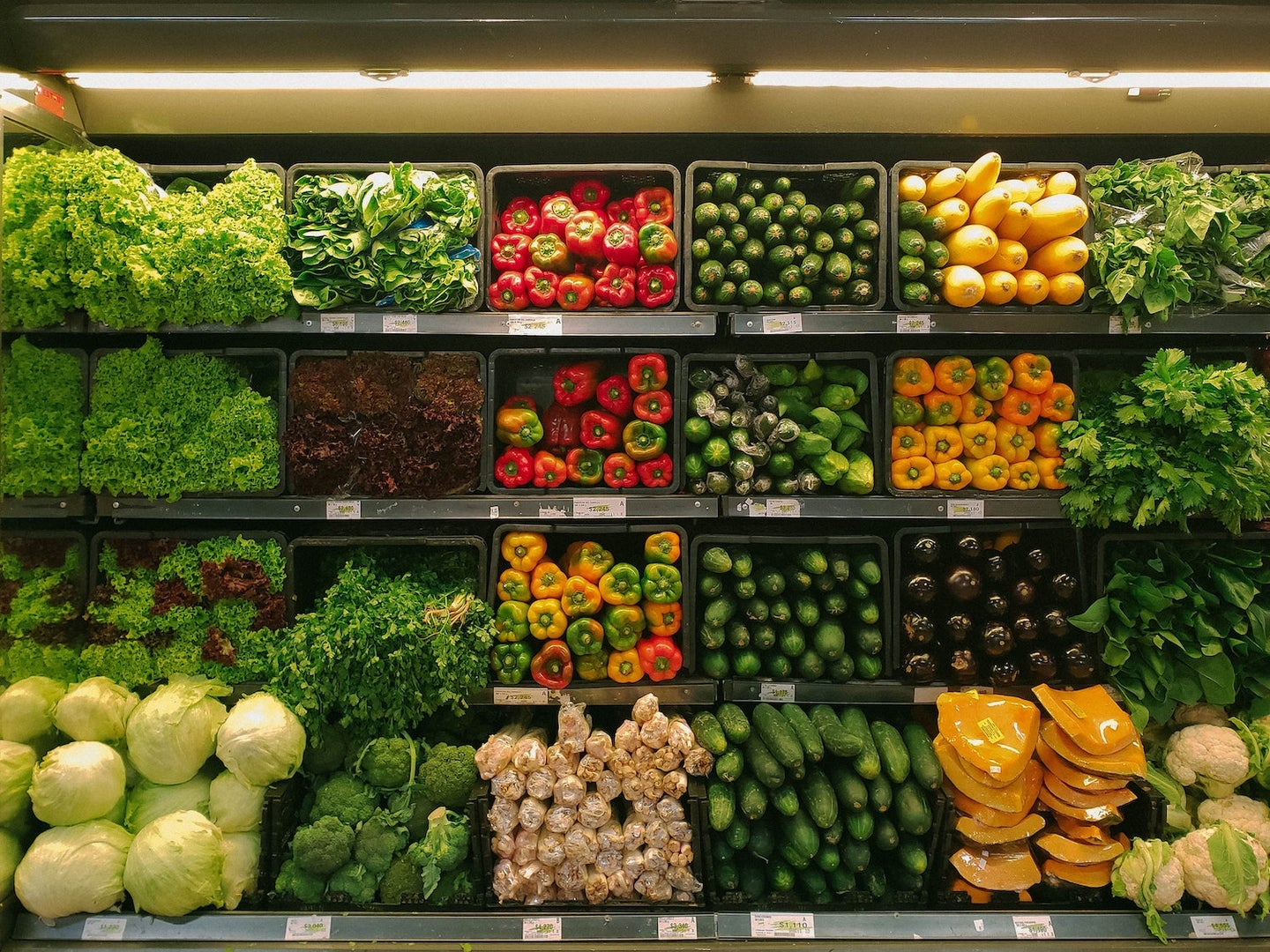 Produce at grocery store