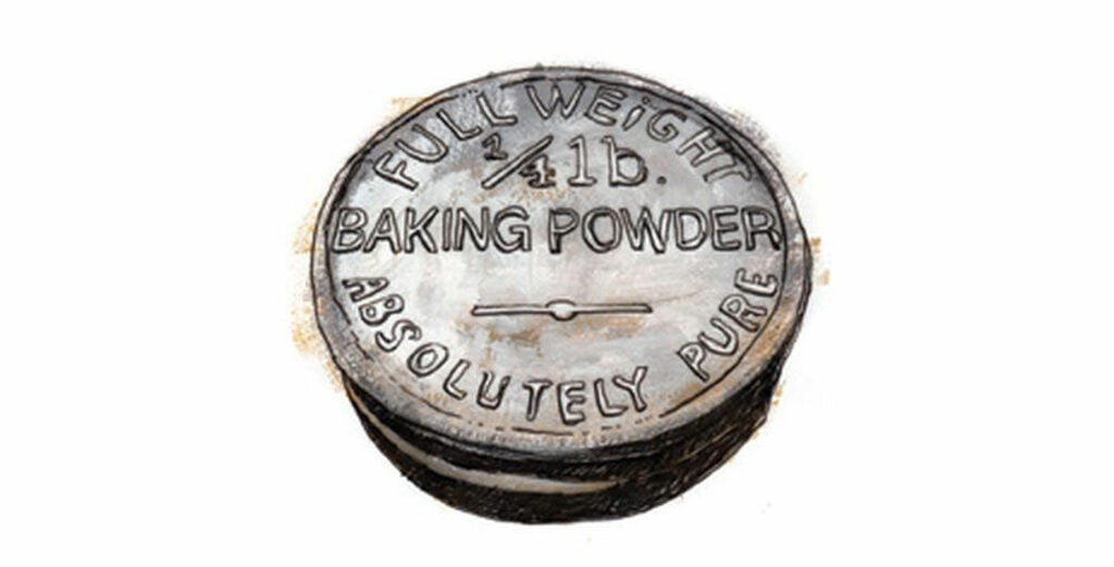 1869 Harvard chemist Eben Horsford perfects his invention of baking powder, a blend of monocalcium phosphate, sodium bicarbonate, and starch that allows breads to rise without starters and enables home bakers to add quick breads like banana bread and Irish soda bread to their repertoires.