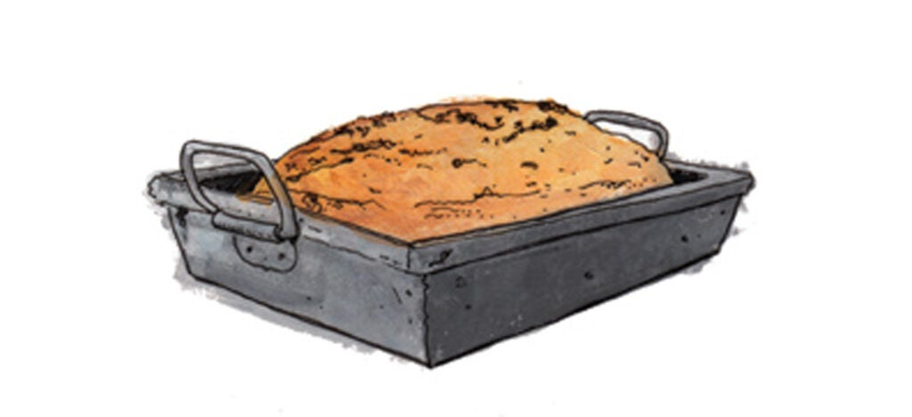 1800s Home bakers start baking bread in tins, rather than casting their formed loaves onto the floor of brick ovens.