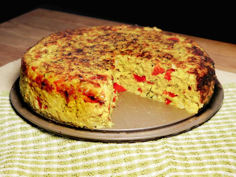Cheesy Rice Pie