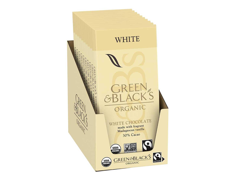 Green & Black's Organic White Chocolate bar With Vanilla