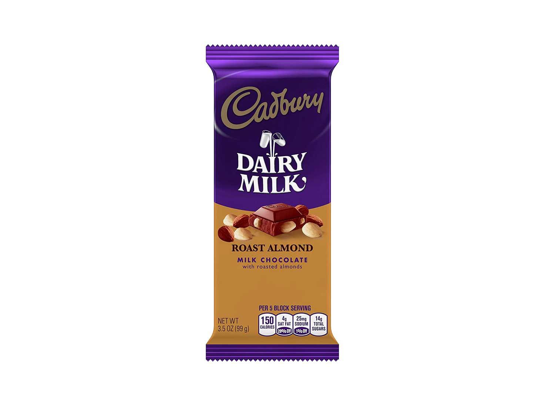 CADBURY Chocolate Candy Bar, Roast Almond, 3.5 Ounce (Pack of 14)