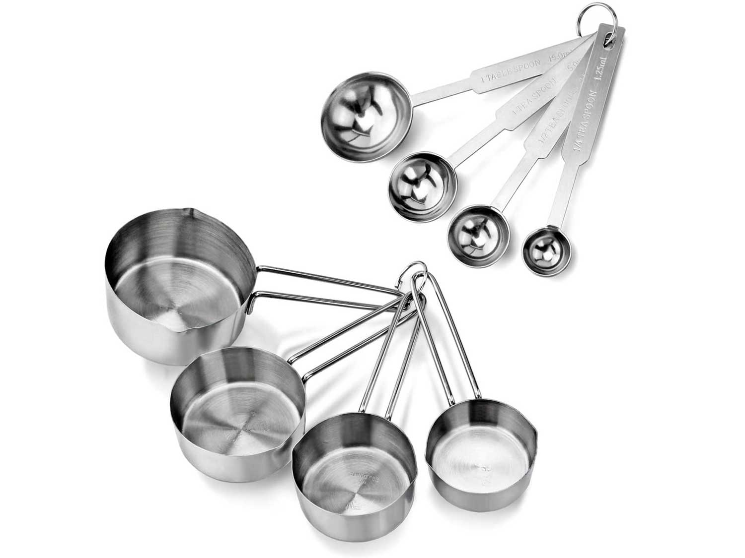 New Star Foodservice 42917 Stainless Steel Measuring Spoons and Measuring Cups Combo