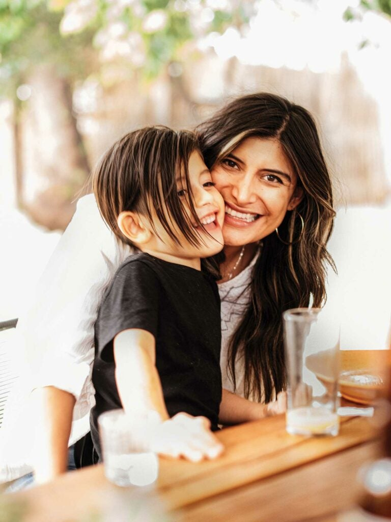 Author Bricia Lopez and her son, Eduardo.