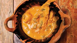 Yellow Mole with Fish and Cactus Paddles (Mich Mole)