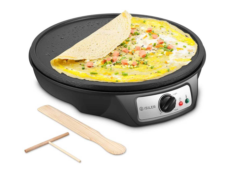 Electric Crepe Maker, iSiLER Nonstick Electric Pancakes Maker Griddle