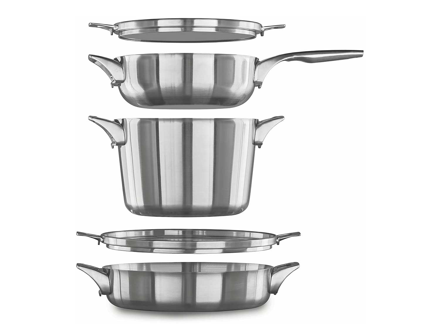 Calphalon 5pc stainless steel space saver