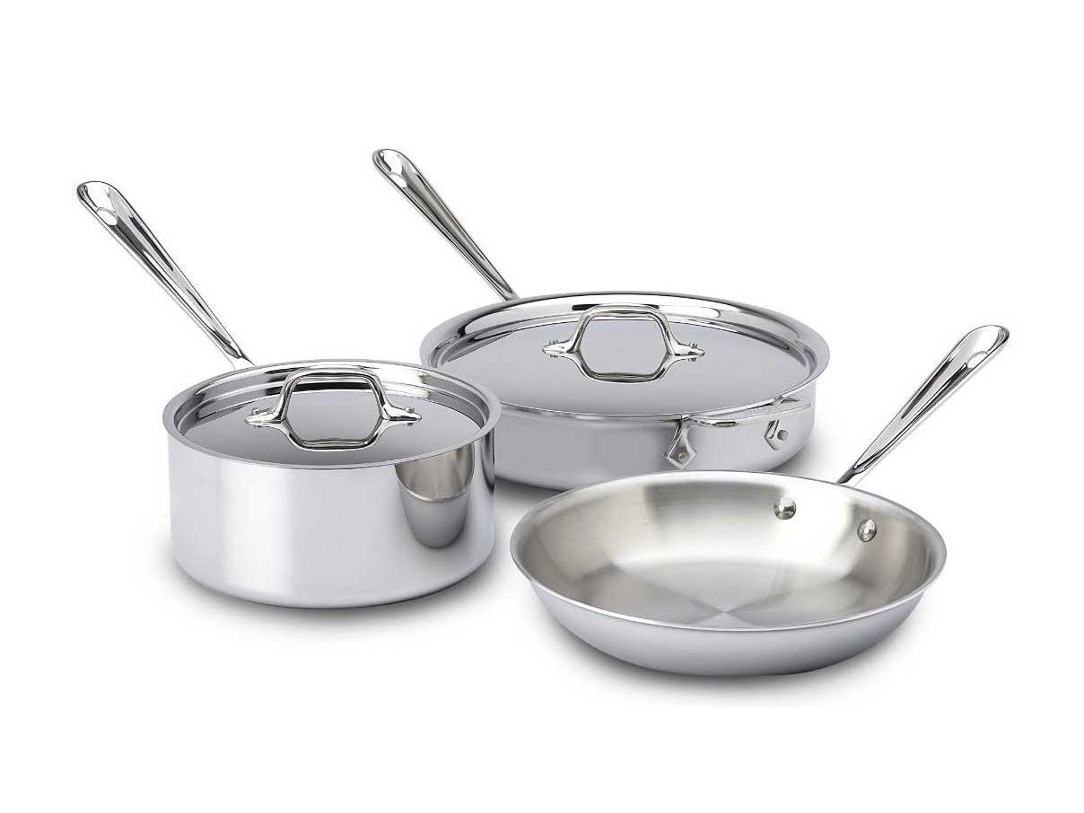 All-Clad 5pc. stainless steel
