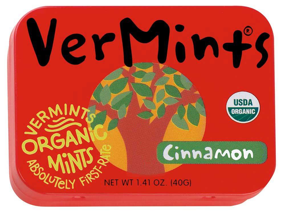 VerMints Organic Cinnamon Mints, 1.41oz Tins (Pack of 6)