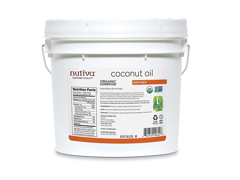 Nutiva Organic, Steam Refined Coconut Oil
