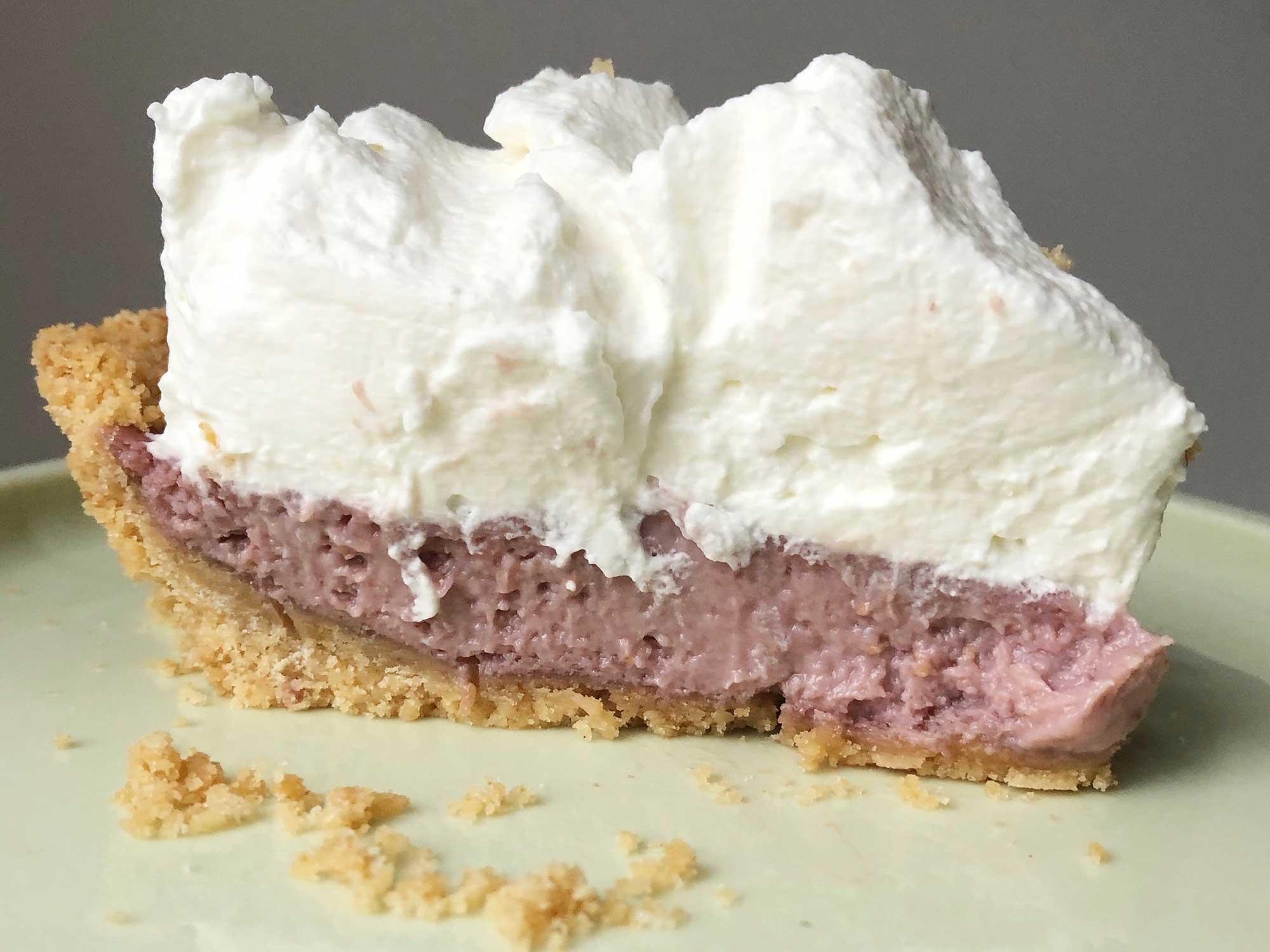 Rhubarb-Lime Icebox Pie