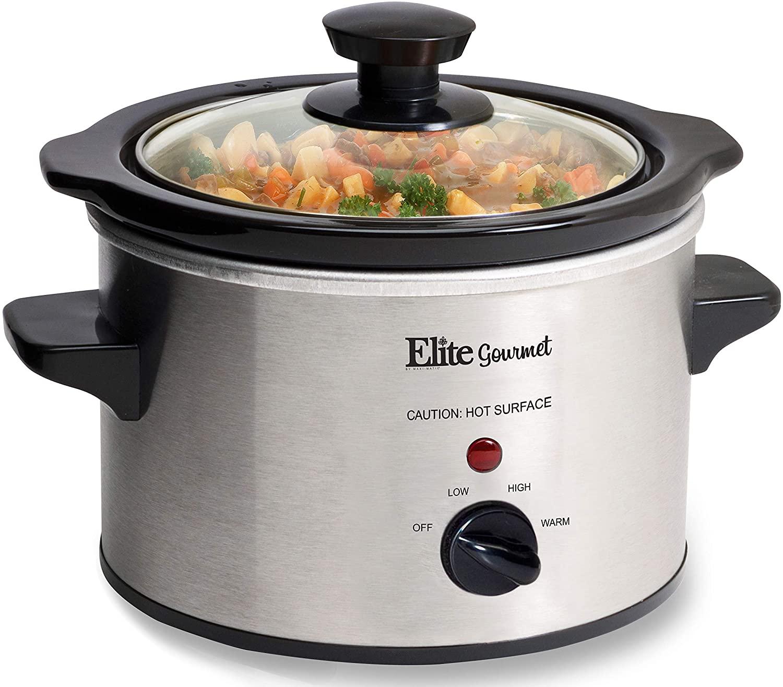 Elite Gourmet 1.5 Quart Slow Cooker