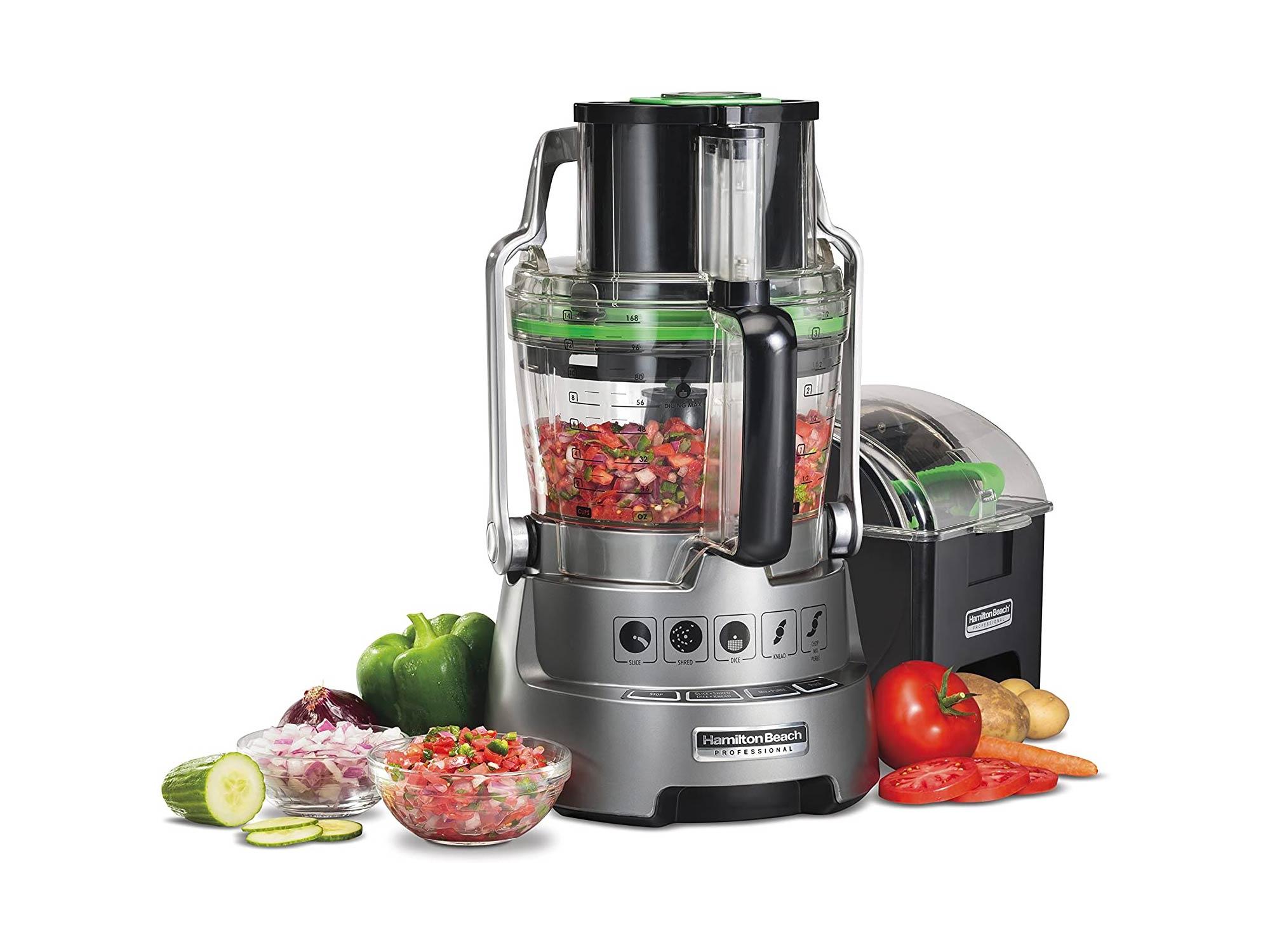 Hamilton Beach Professional 14-Cup Dicing Food Processor BPA-Free Bowl, Extra-Wide Feed Chute
