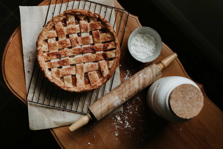 Beautiful lattice pie
