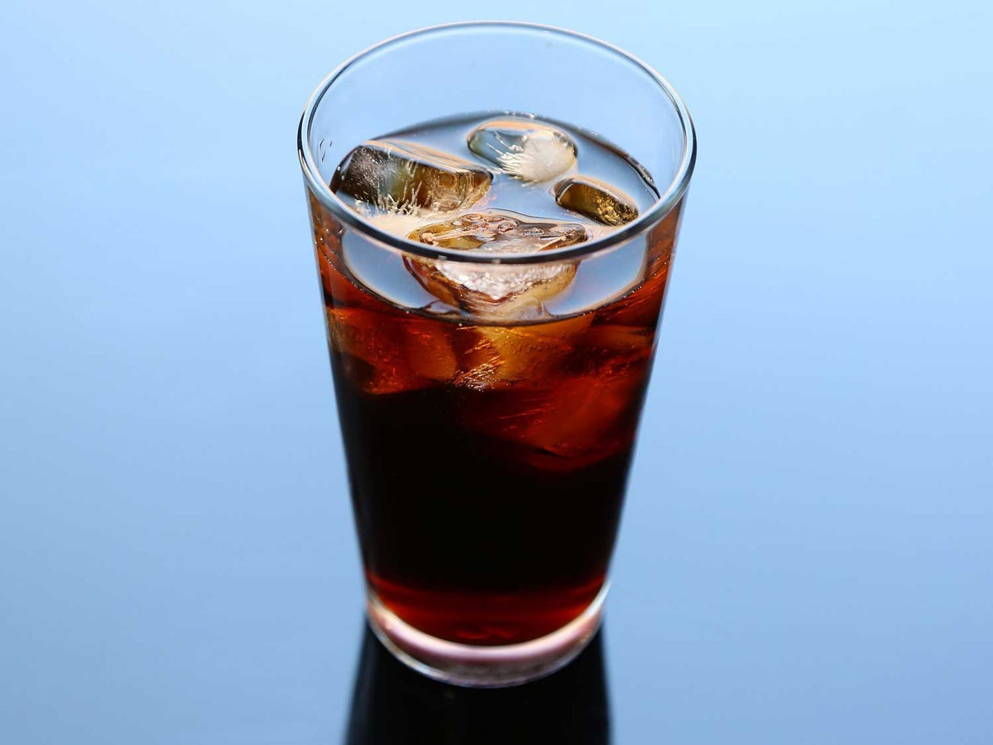 Cup of cold brew coffee with ice