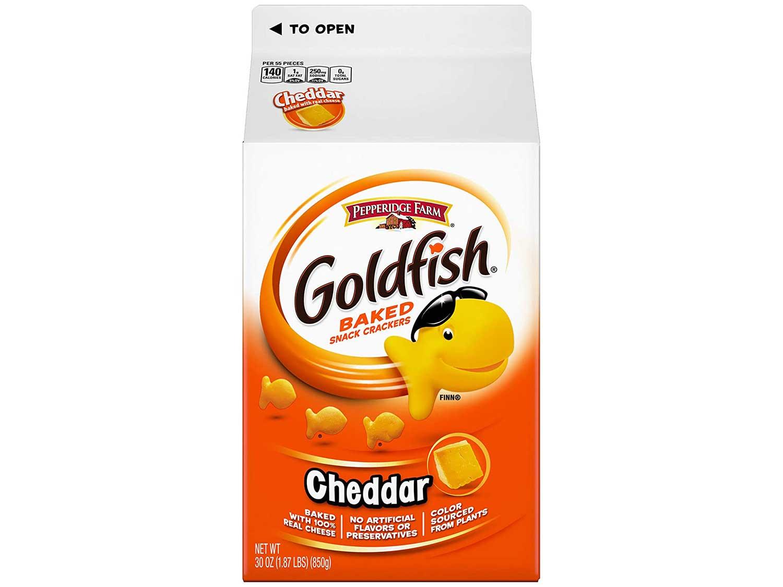 Pepperidge Farm Goldfish Cheddar Crackers, 30 Ounce Carton, 6 Count