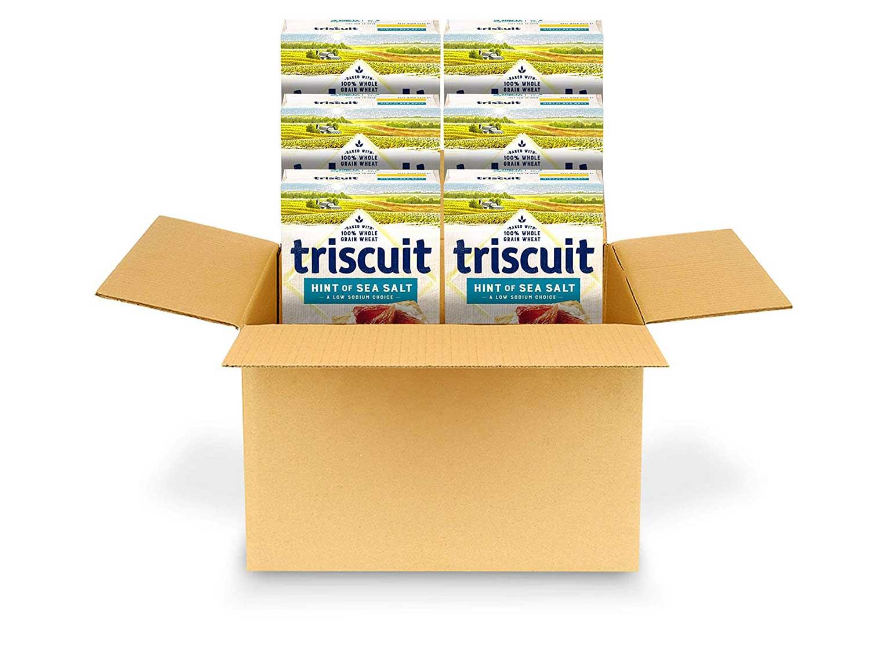 Triscuit Hint of Sea Salt Whole Grain Wheat Crackers, 6 - 8.5 oz Boxes