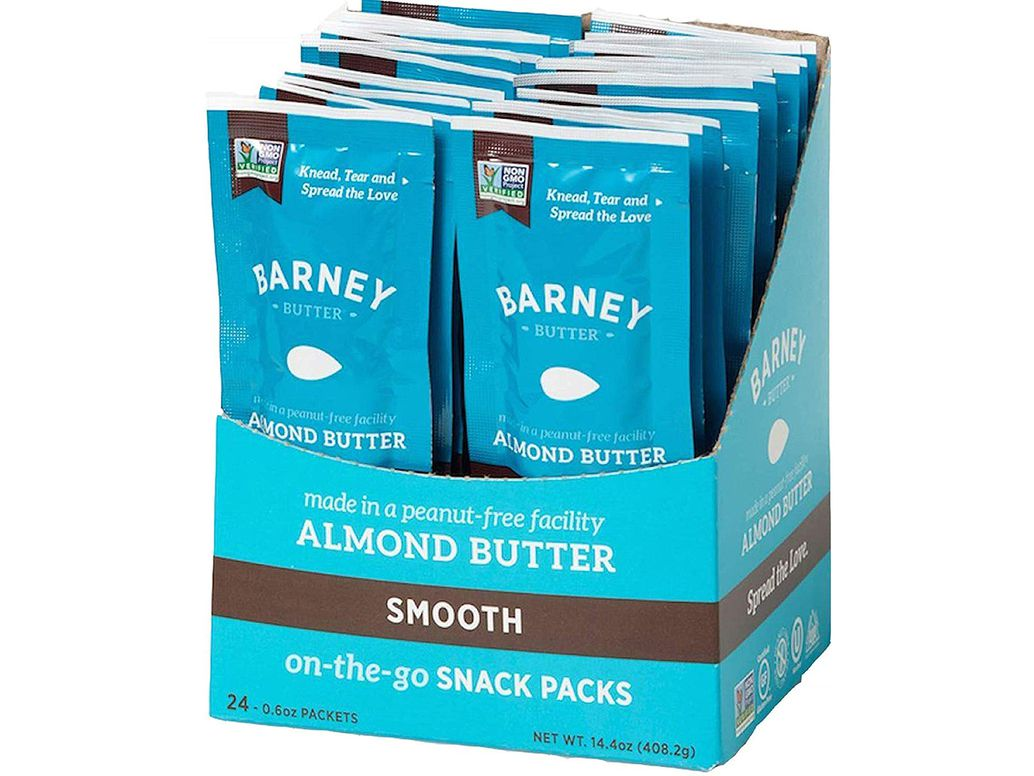 Almond Butter Snack Pack, Smooth, Paleo Friendly, Keto, Non-GMO, Skin-Free, 0.6 Ounce