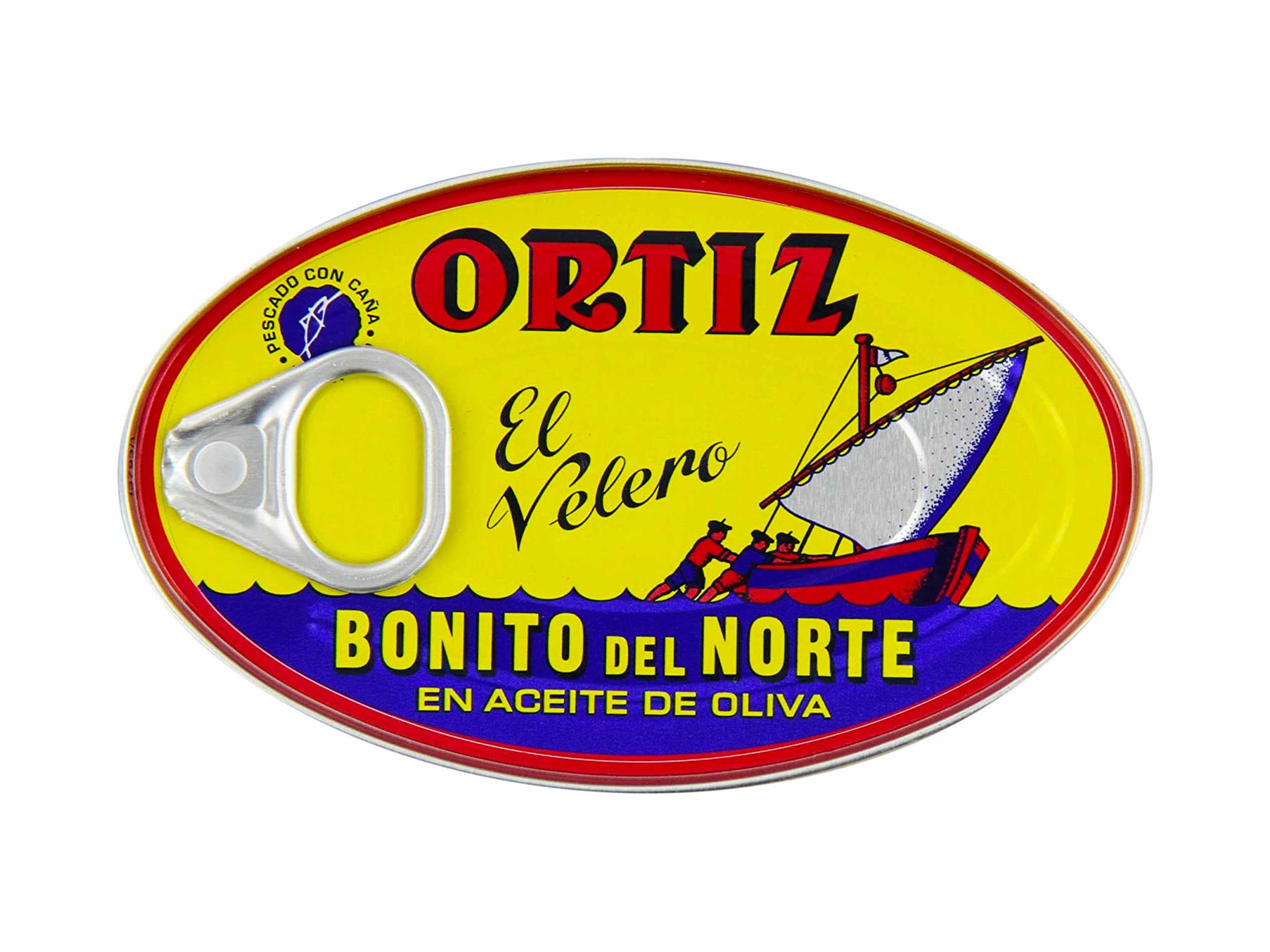 Ortiz Bonito Del Norte Tuna In Olive Oil 3.95 oz Oval Tin (Spain) 12 pack
