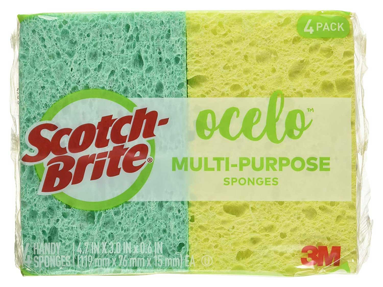 Scotch-Brite ocelo Handy Sponge, Assorted Colors, 40 Sponges