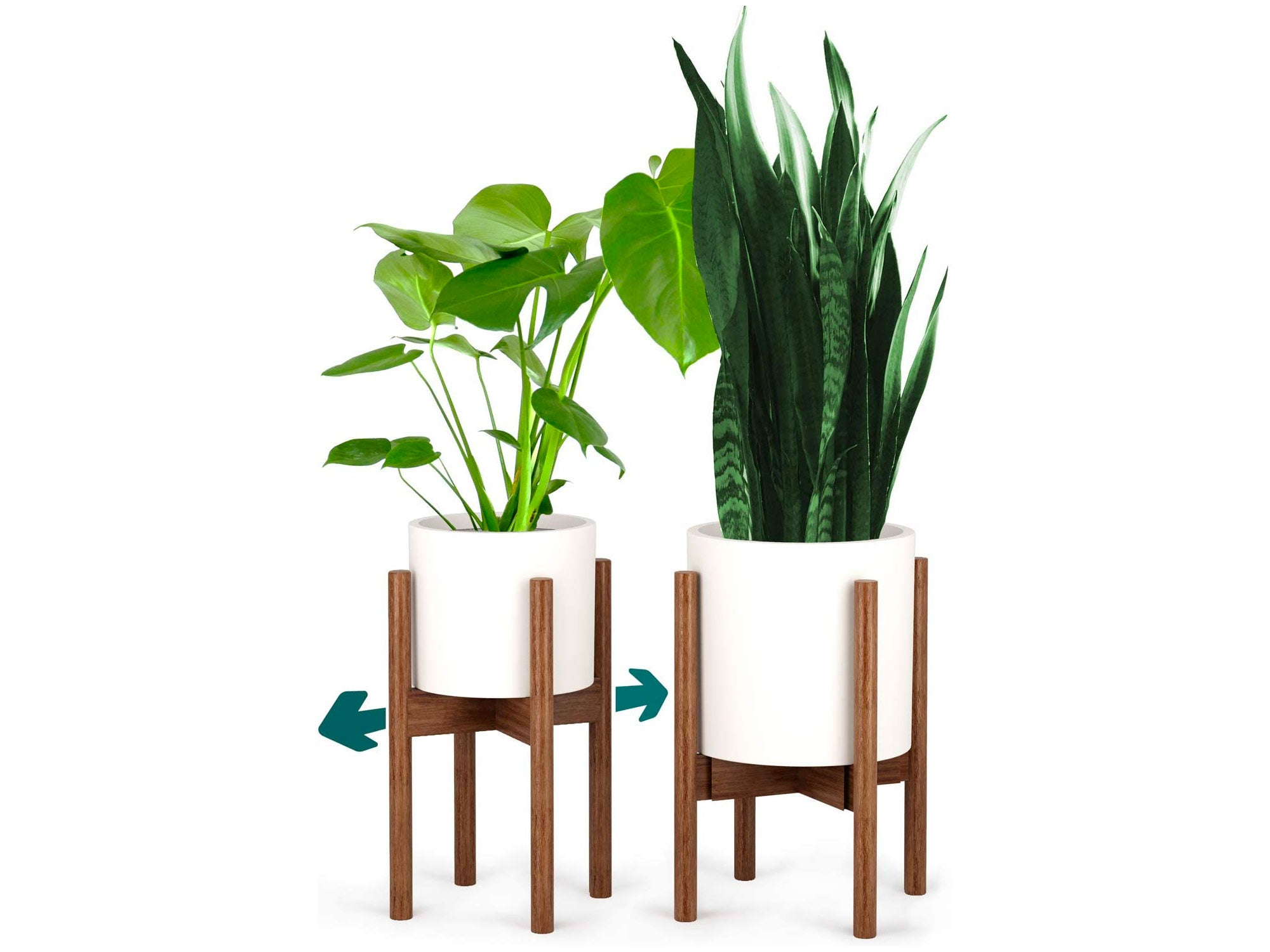 Fox & Fern Mid-Century Modern Plant Stand - Bamboo - EXCLUDING 12