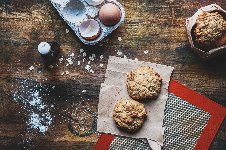 Cookies on a baking mat