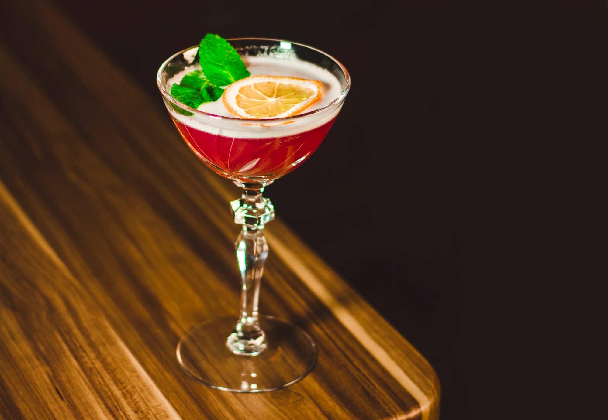 Beautiful cocktail on bar