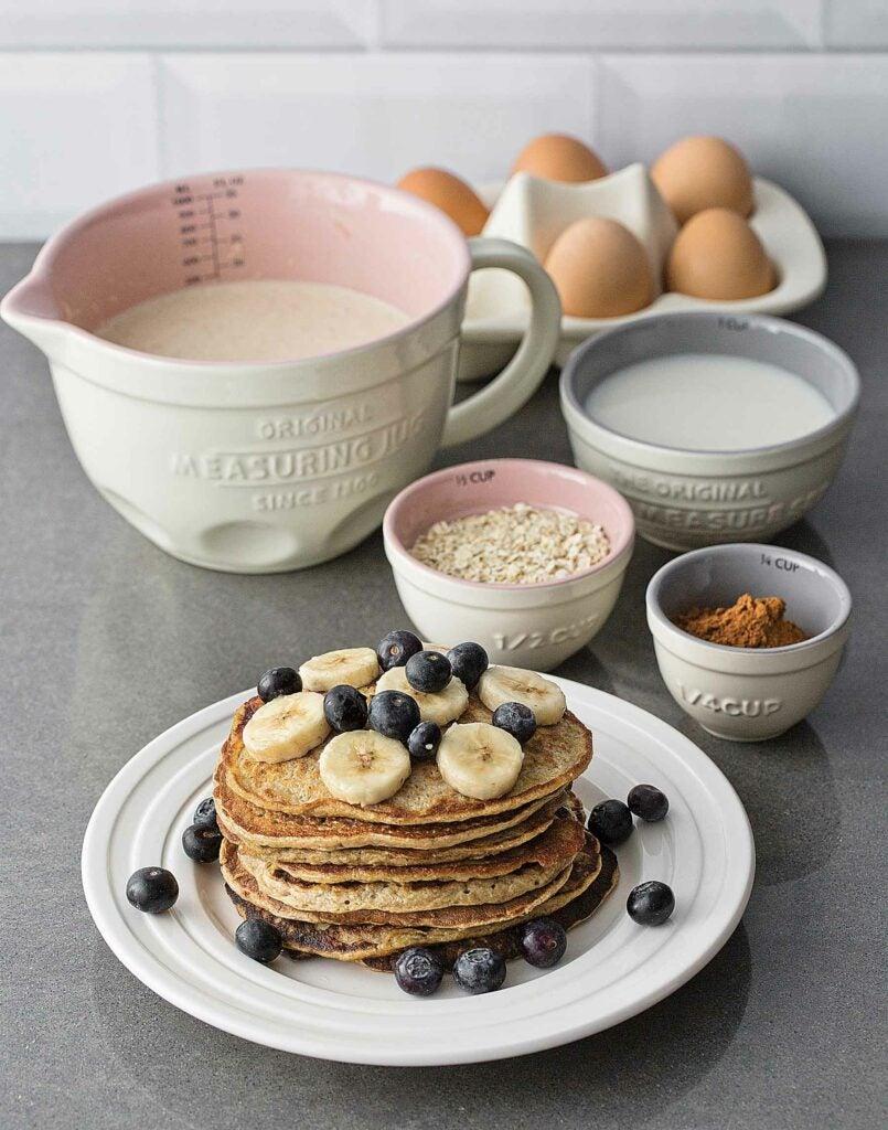 Pancakes in a pretty kitchen
