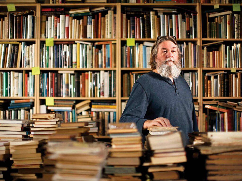 Don Lindgren, owner of Rabelais Books in Biddeford, Maine.