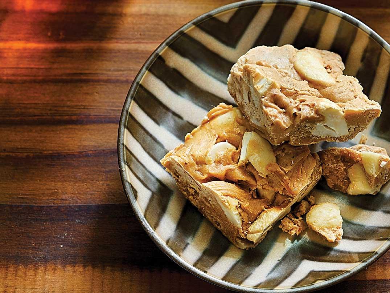 Kira Aluwa - Cardamom, cashew, and condensed milk squares