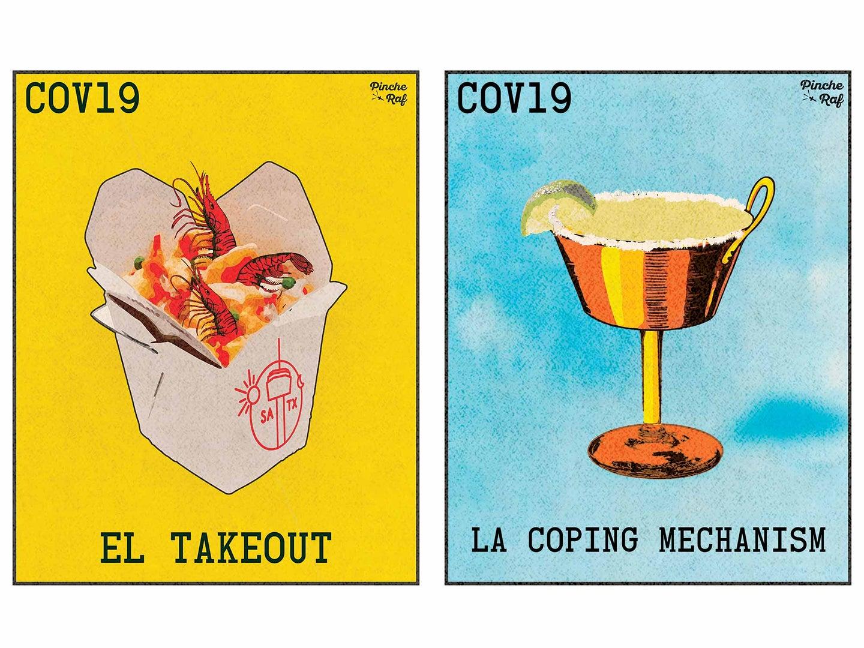 COVID-19 culinary illustrations