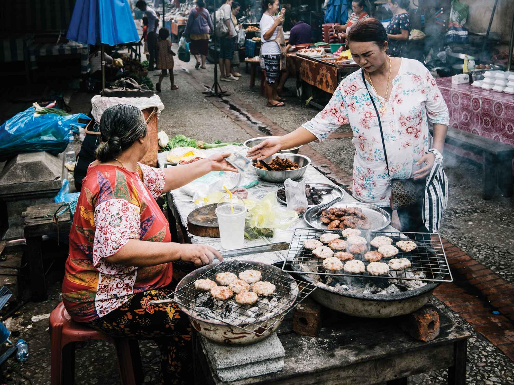 Morning market in Laos