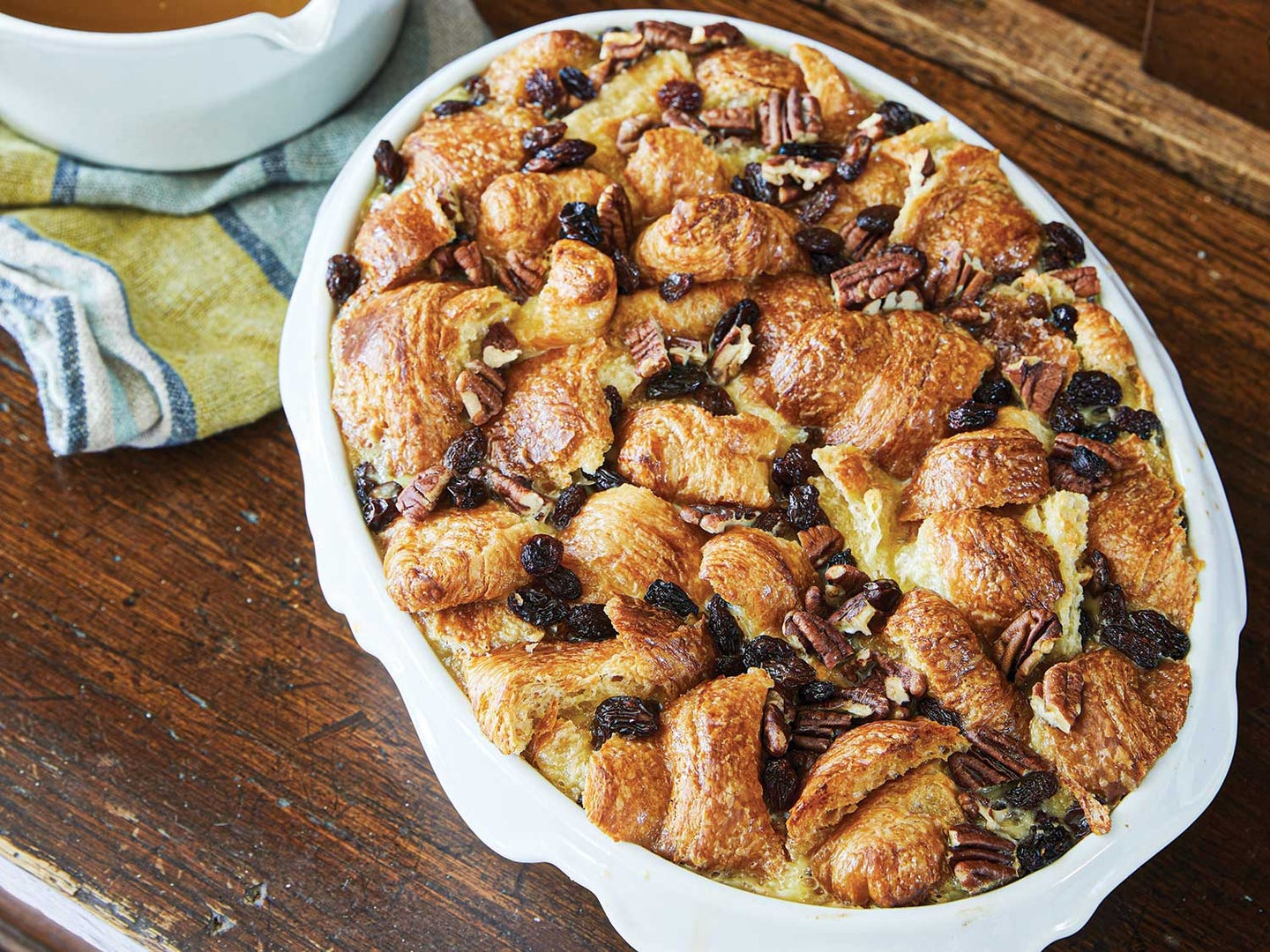 Sarah Gray Miller's Croissant Bread Pudding with Bourbon Sauce