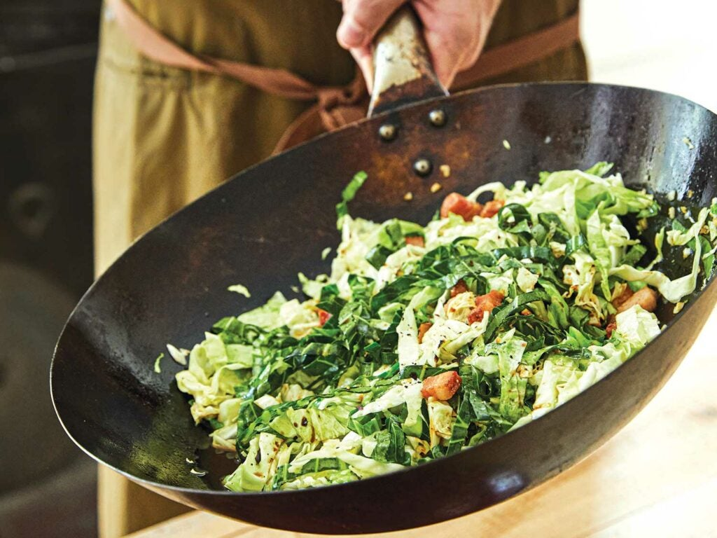 Stir-Fried Cabbage with Bacon Father's Day Recipes