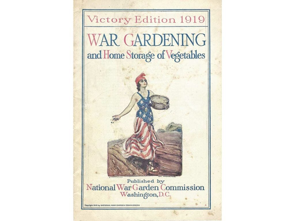 War Gardening and Home Storage of Vegetables.