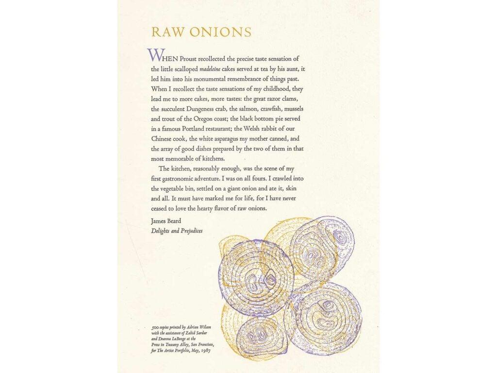 James Beard's ode to onions.