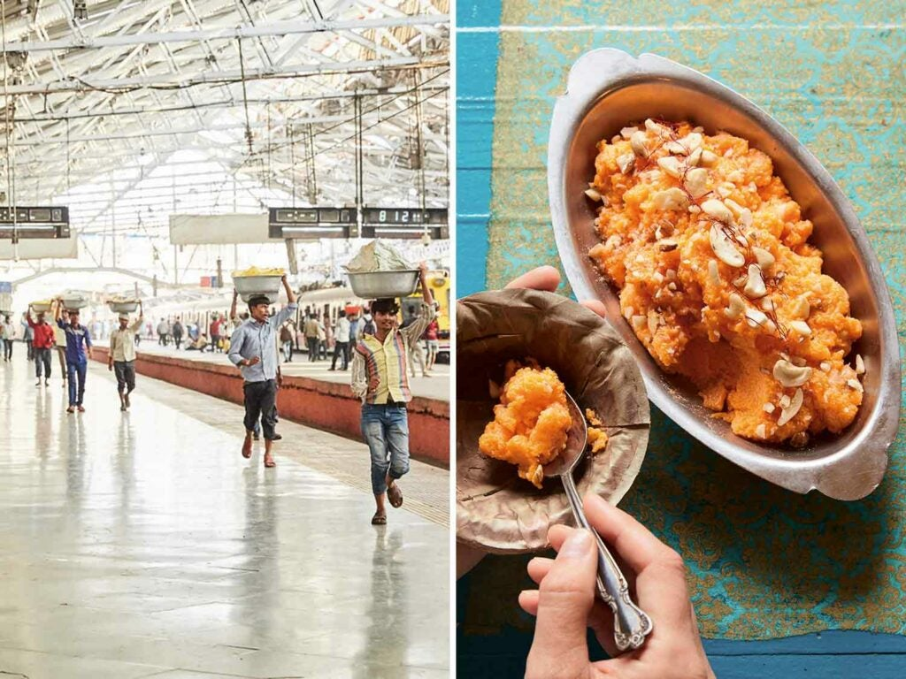 Chhatrapi Shivaji Maharaj Terminus in Mumbai and Punjab's saffron carrot pudding