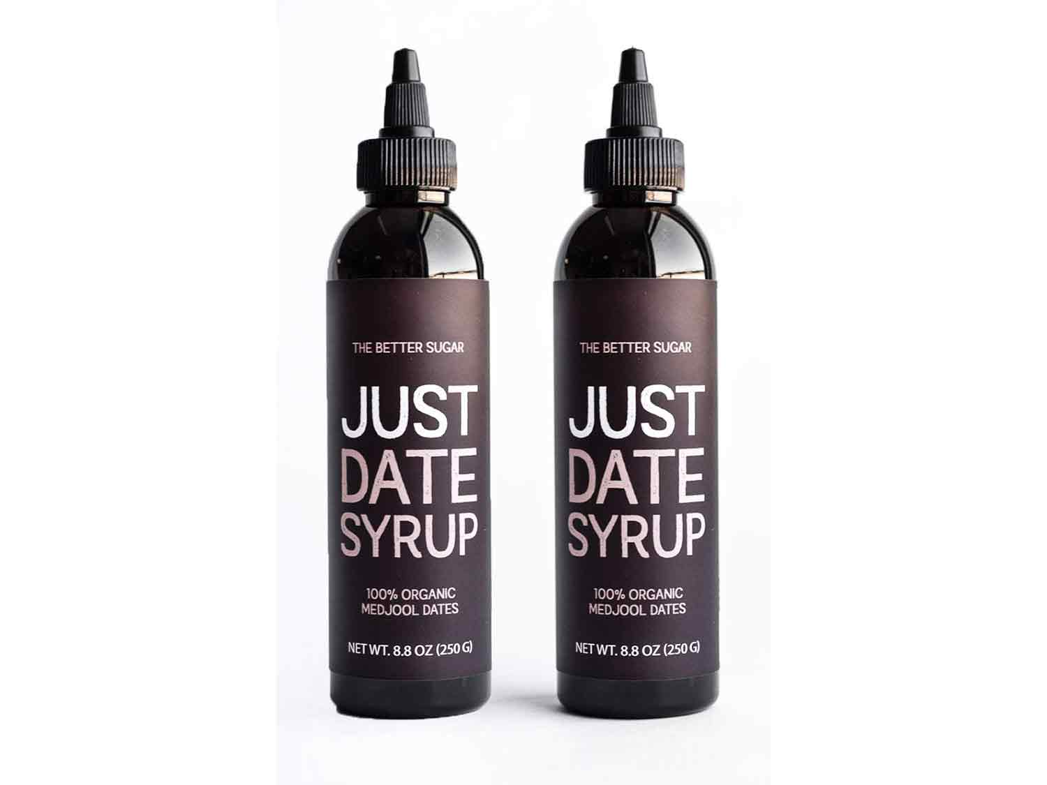 Just Date Syrup: Award-Winning Organic Date Syrup I Two 8.8 OZ Squeeze Bottles I Low-Glycemic, Vegan, Paleo   1 Ingredient : 100% California Medjool Dates