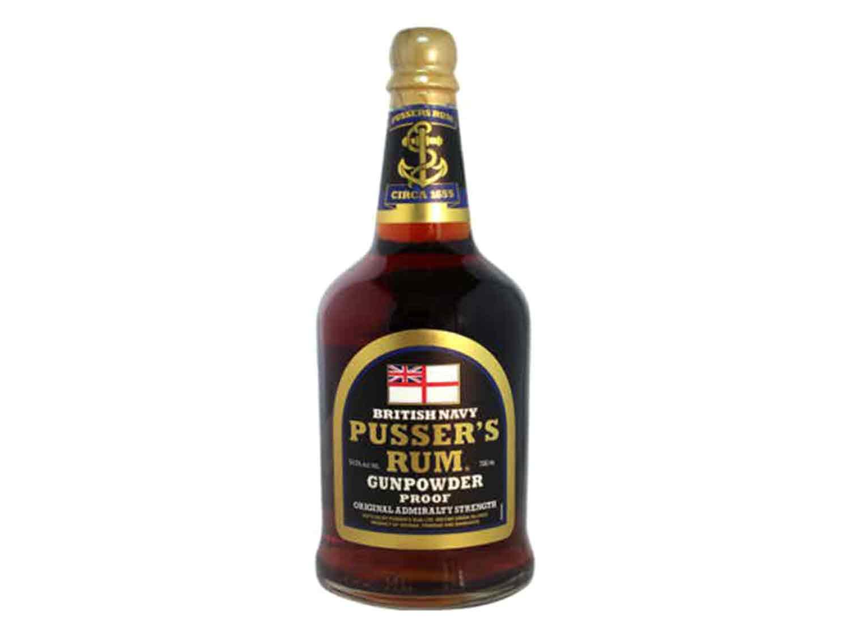 Rum: Pusser's Gunpowder Proof Black Label