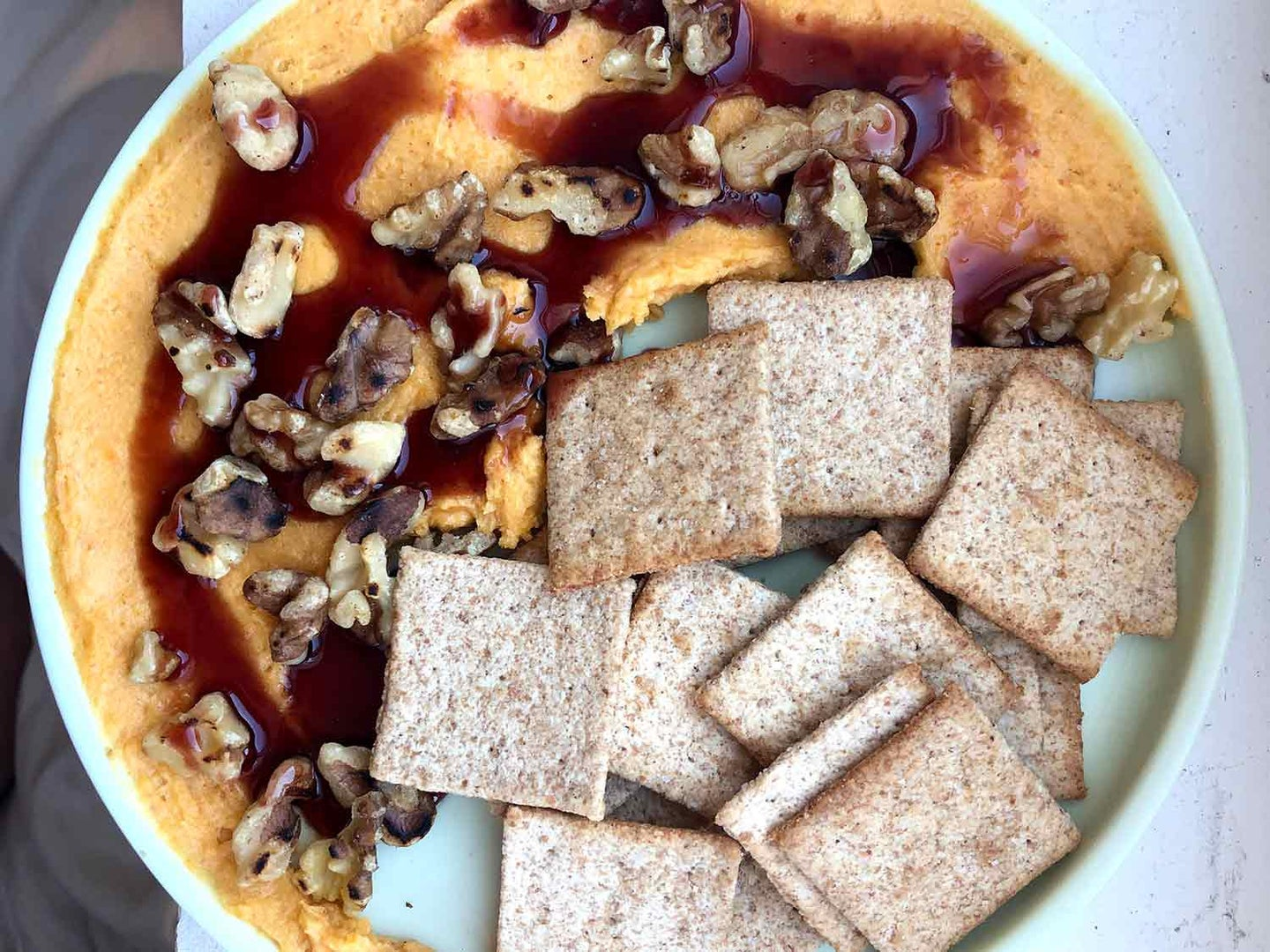 Amy Thielen's Old-Fashioned Pounded Cheese with Walnuts and Port Syrup