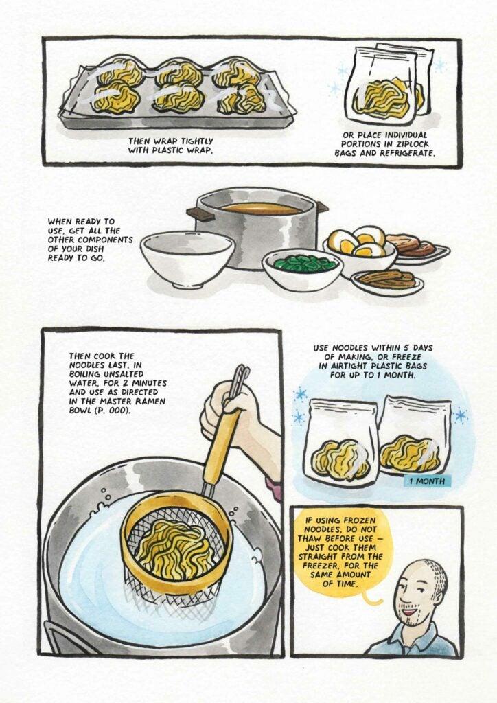 How to make ramen noodles step 6