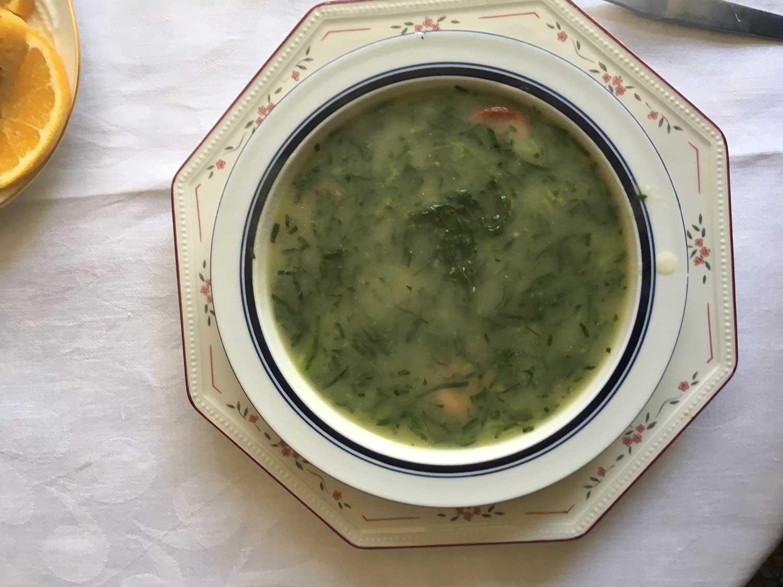 Caldo Verde (Portuguese Potato and Collard Green Soup With Chouriço)