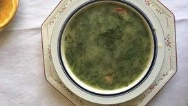 Caldo Verde (Portuguese Potato and Collard Green Soup With Chorizo)