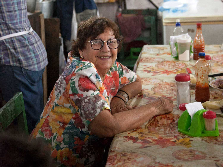 Graciela Martínez at her favorite lunch counter in Asunción's sprawling Mercado Municipal Cuatro.